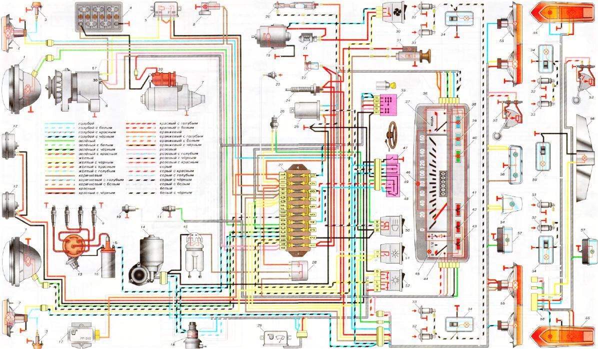 Характеристика Схема генератора для ваз 2101