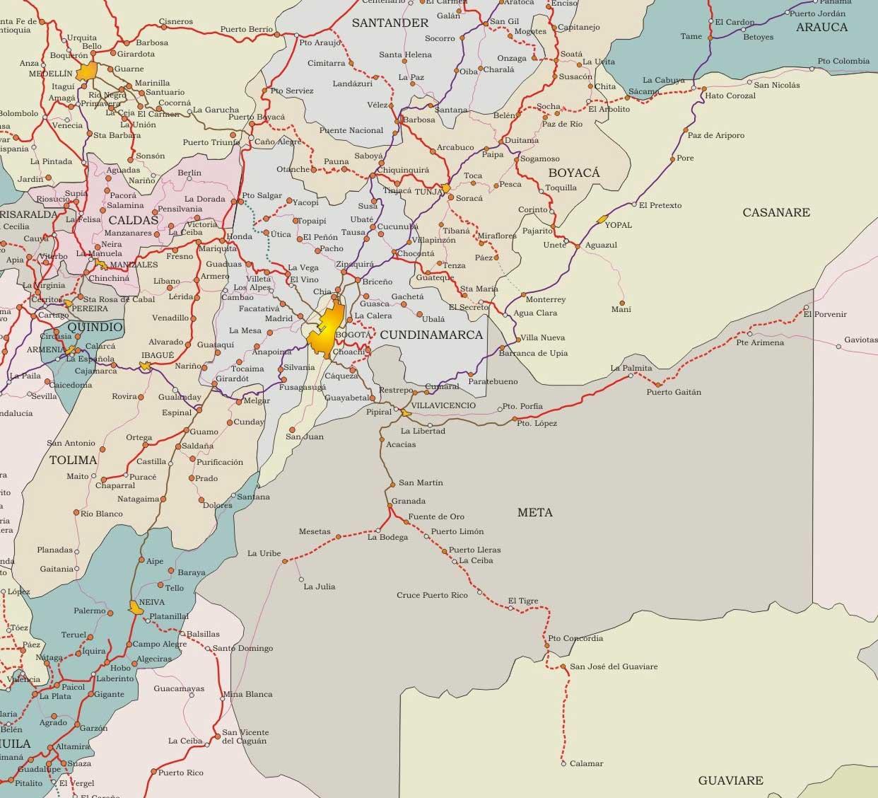 Mapa Armenia Colombia