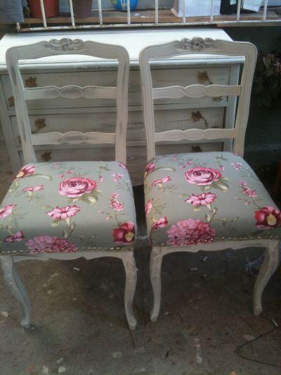 Vintageyiany muebles for Sillas blancas vintage