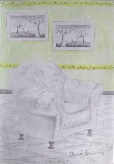 Sessel skizze  Sessel Zeichnung Bleistift | mobelplatz.com