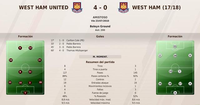 West Ham (Paralela a Rayo Vallecano) Amistoso1