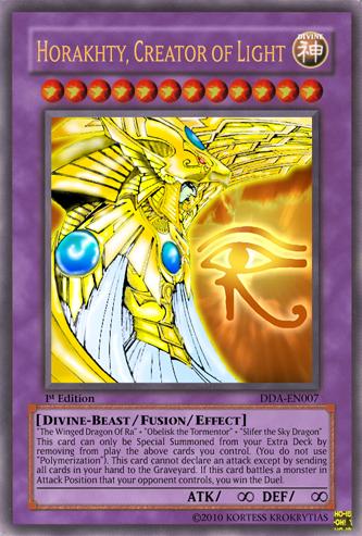 Horakhty, Creator of Light - Casual Card Design - Yugioh Card Maker ...