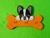 colgador de llaves frenchie naranja
