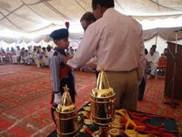 Chief Guest awarding Medal on 23rd March to Boy Parade Commander