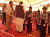 Chief Guest awarding 23rd March Medals