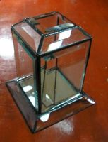 beveled glass dislay case