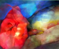 La rosa 65x54cm acrilico-tela 2006