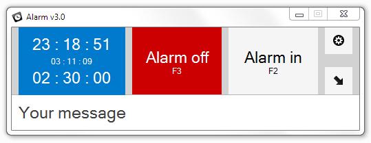 Alarm full screenshot