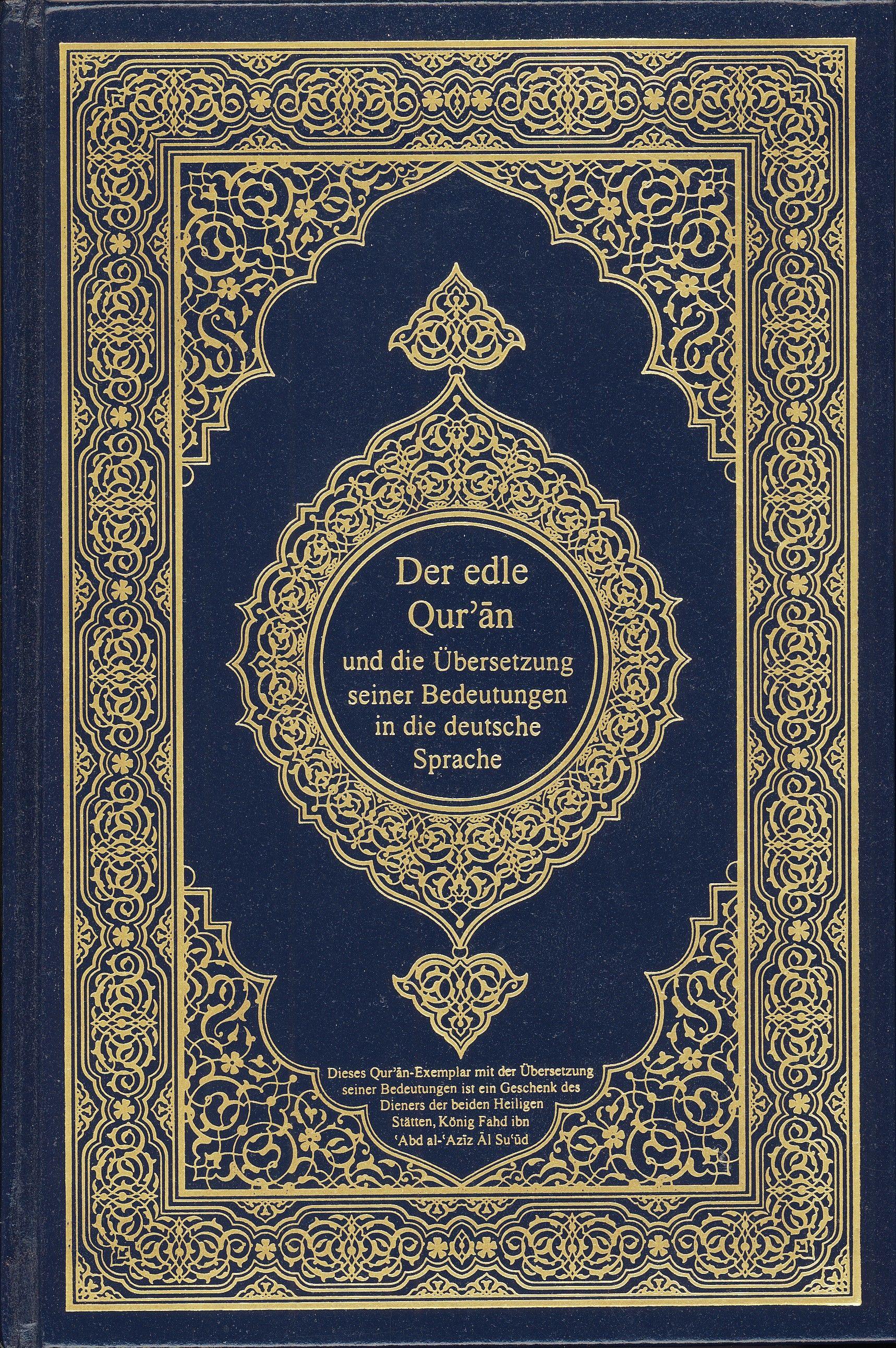 Almanca, Kurân, Der Koran, Almanca