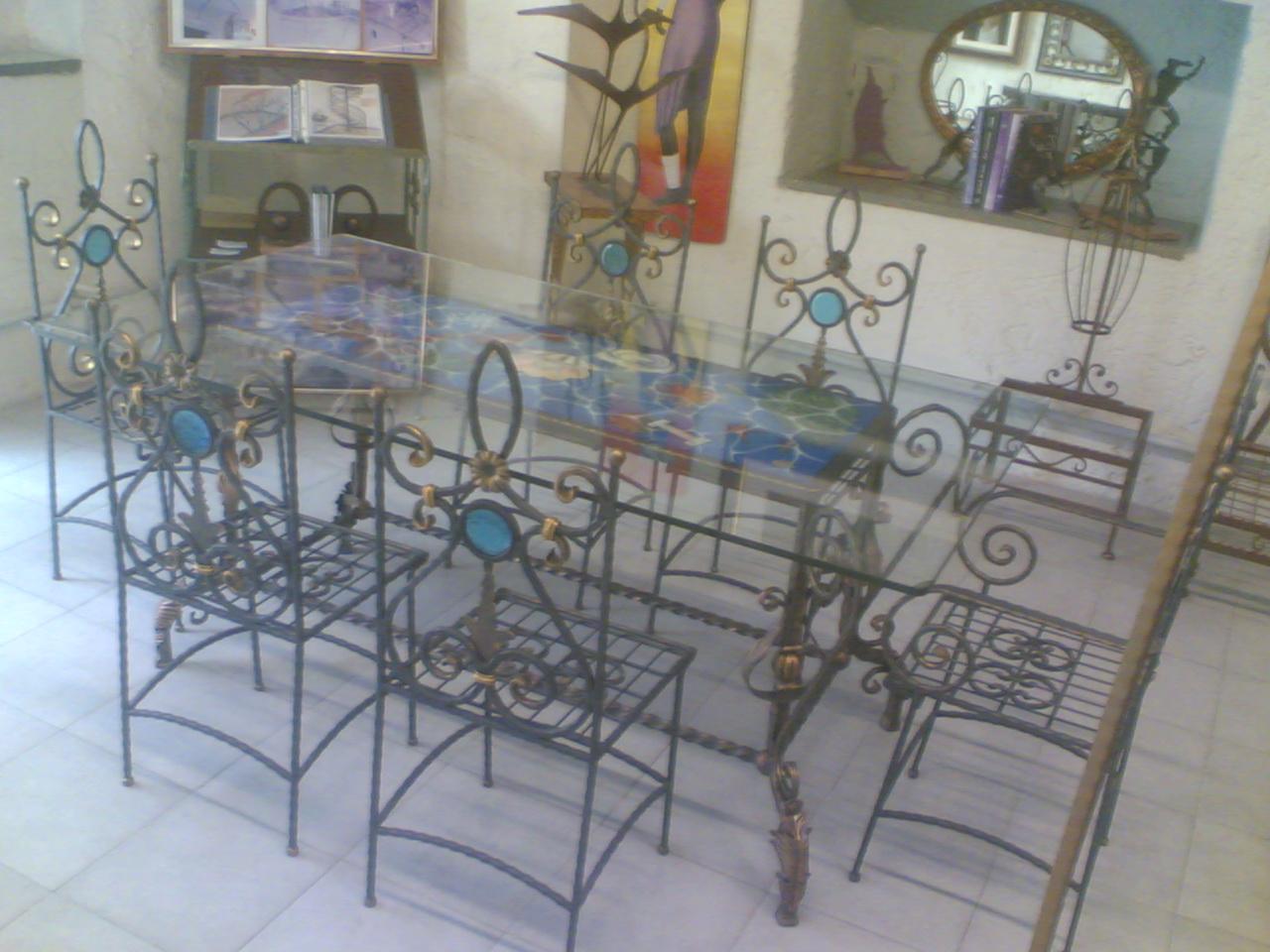 Galleria - Tavolo ferro battuto e vetro ...