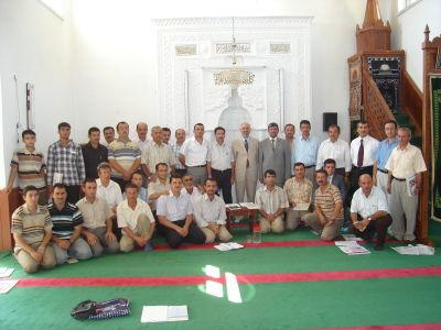 İl Müğftümüz Nimetullah ARVAS ile ve aynı zamanda İlçe Müftümüz Mustafa ARSLAN ile yapılan ilk aylık personel toplantısı 20.08.2008