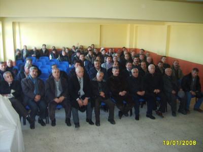 TOKİ toplantısı Fatih Sultan Mehmet İlköğretim Okulu Salonu