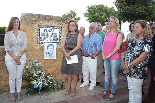 Acto de conmemoración del asesinato de M. Ángel Blanco