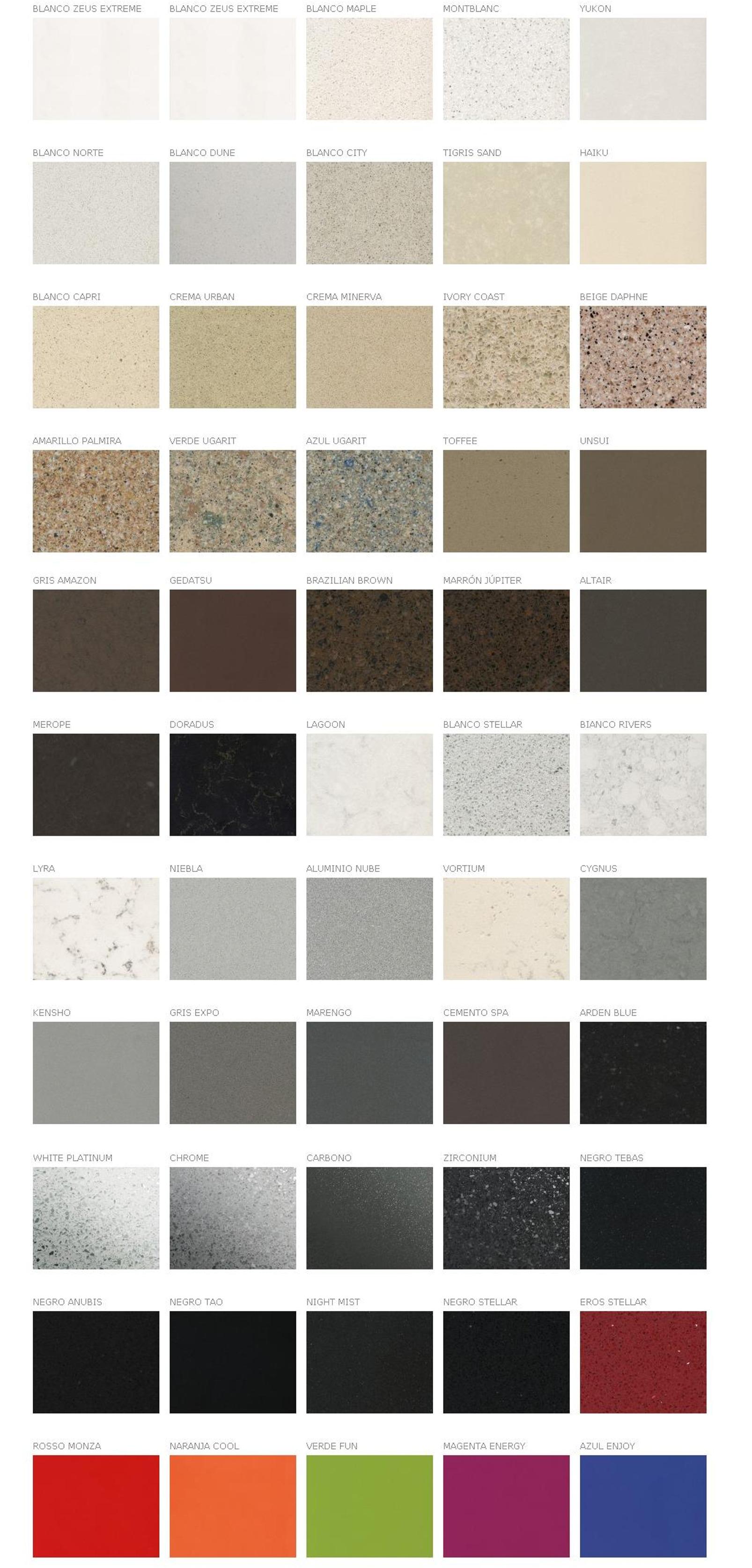 Colores silestone for Colores de granito para banos