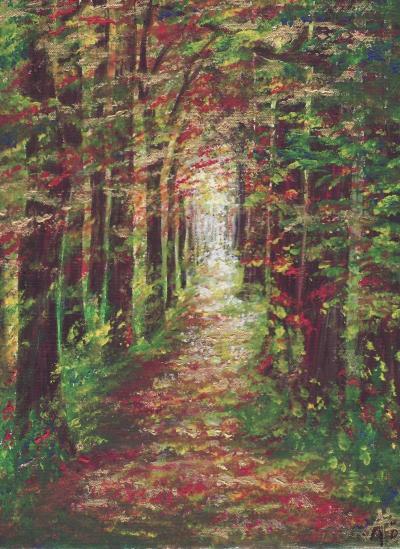 Art & Grafik Work - Acrylbild Wald