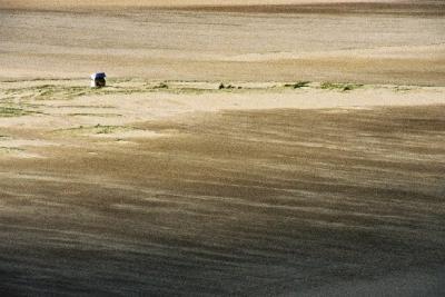 Strandkorb und Sand