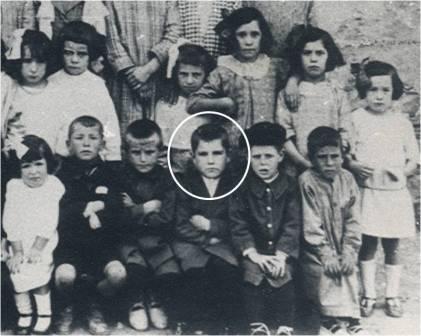 En la escuela de Añézcar en 1924