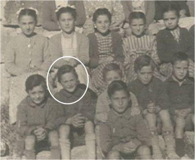En la escuela hacia el año 1945