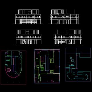 architecture hichem mhb 021 villa savoye