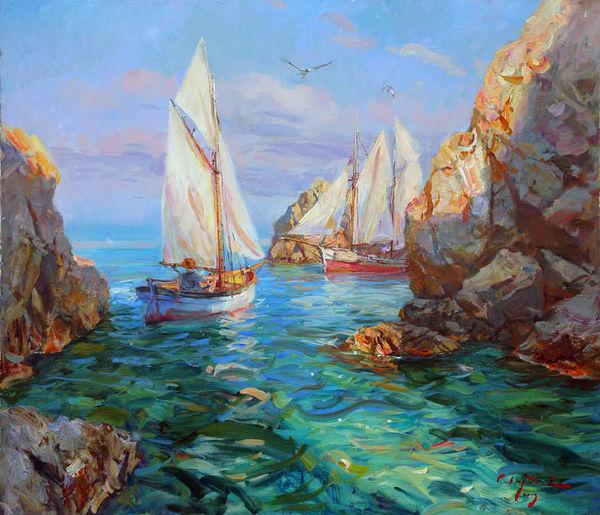 Art milenyum sergey sviridov for Paesaggi marini dipinti
