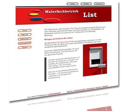 Malerfachbetrieb List, ausführung sämtlicher Malerarbeiten