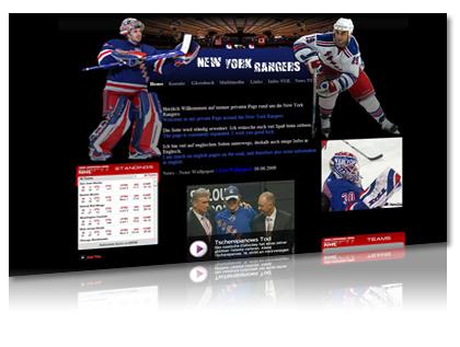 new york rangers homepage von artdesignphoto, homepageerstellung, webdesign