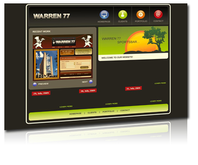 warren 77, sportsbar new york, homepagegestaltung, webdesign
