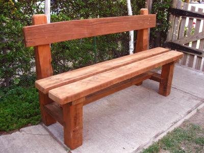 Arte en maderas esca os de jardin - Bancos para exterior de jardin ...
