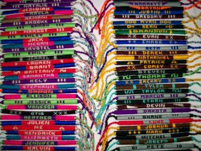 6eb787da3790 Te enseñamos como hacer tus propias pulseras con tu nombre las de tus  amigos o familiares