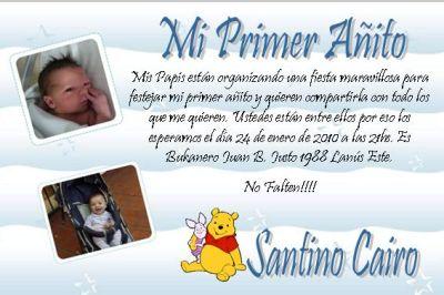 Invitacion Primer Añito I020