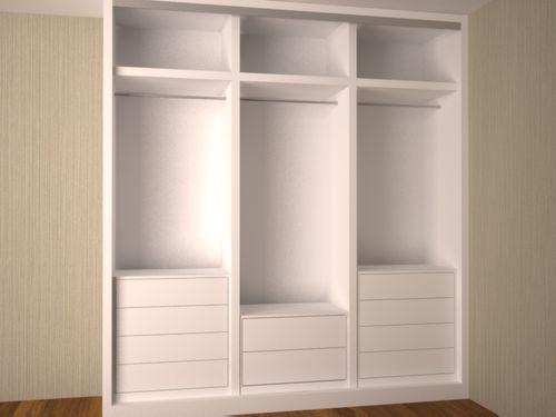 Artmakerpladur armarios empotrados - Cajoneras interior armario ...