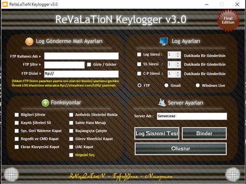 revelation keylogger v3 indir