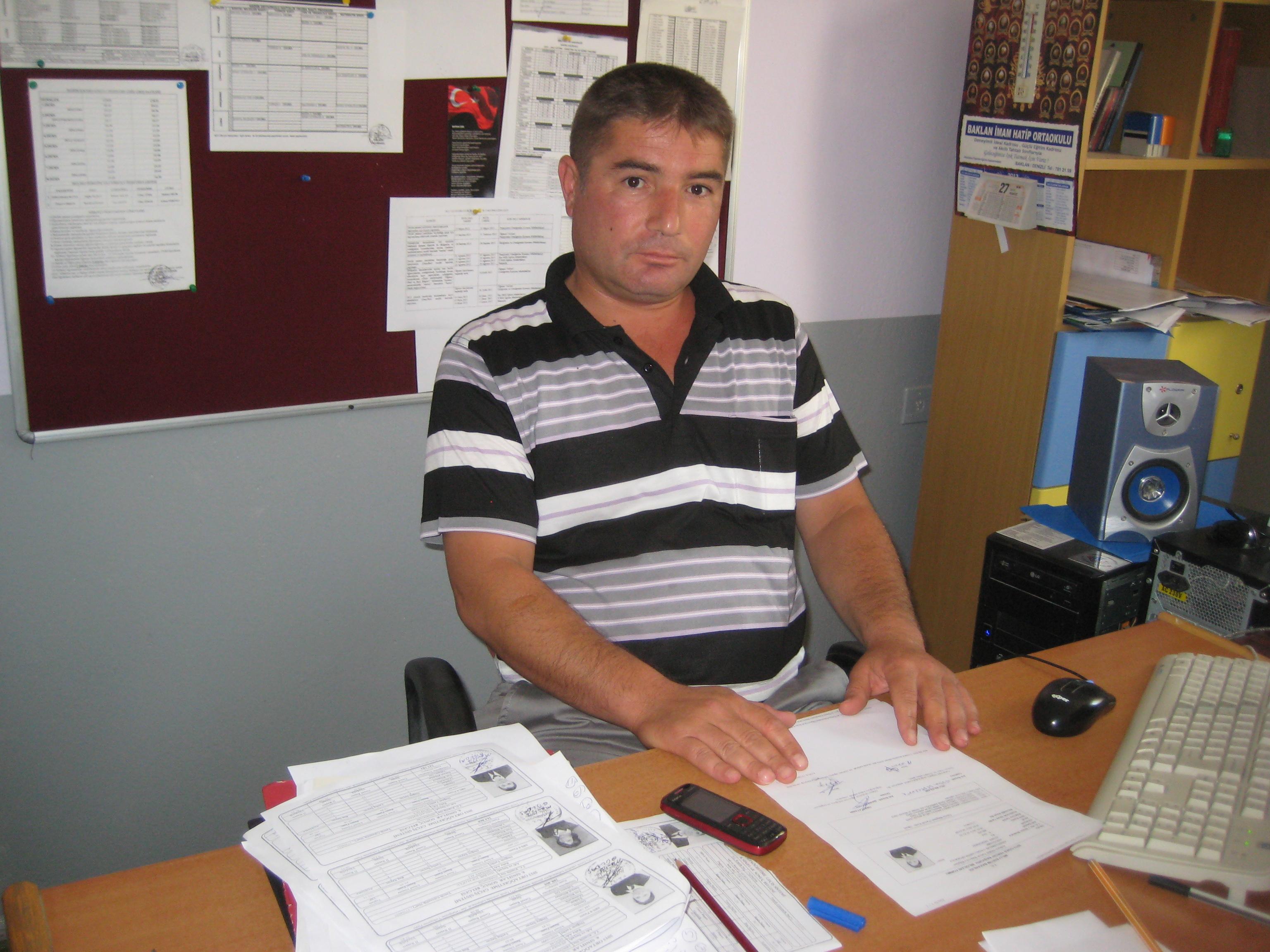 Mevlüt Güldaş Hadim köyü Okulu Müdürü