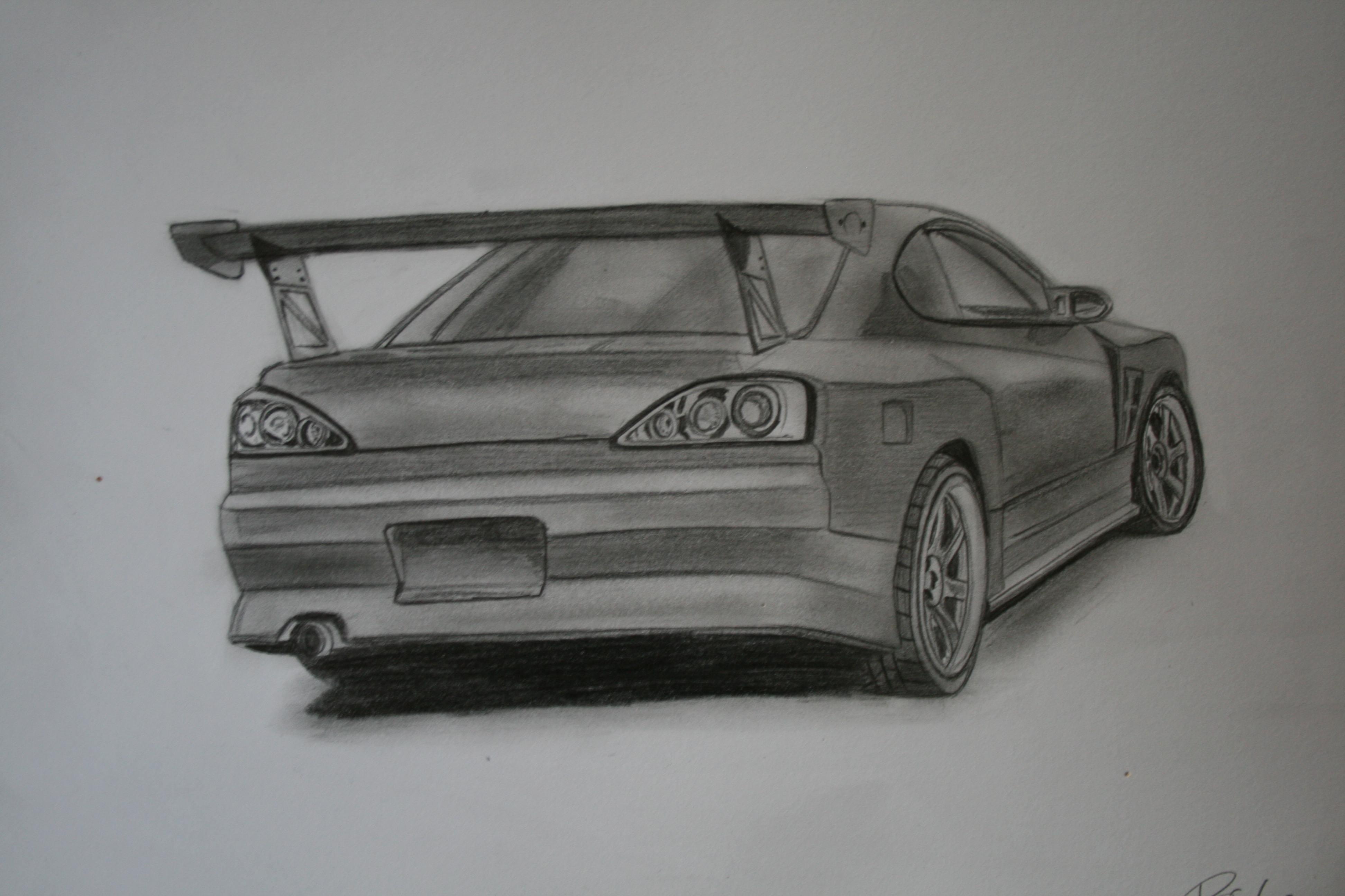 Zeichnungen - Japanische Autos