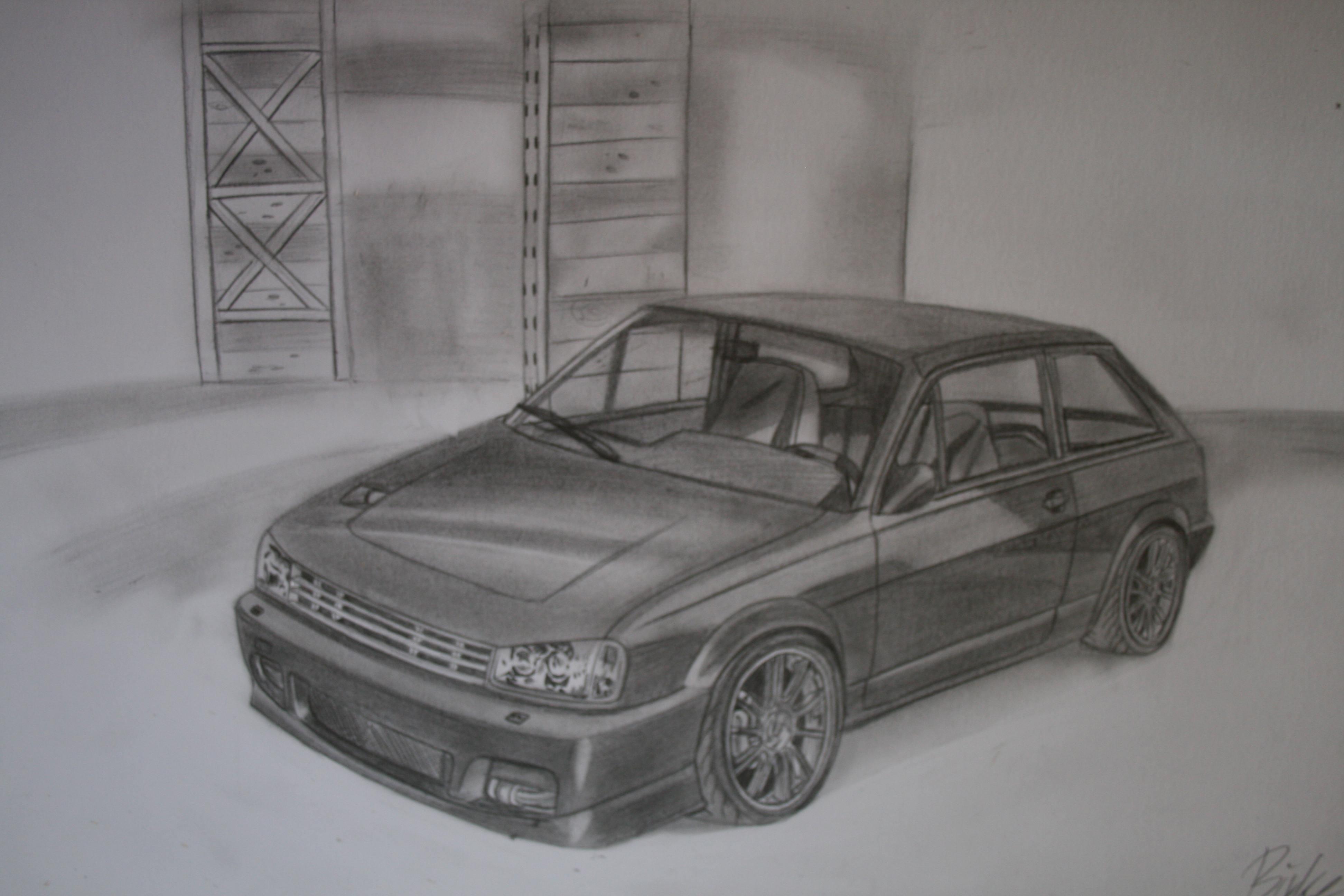 Zeichnungen - Deutsche Autos