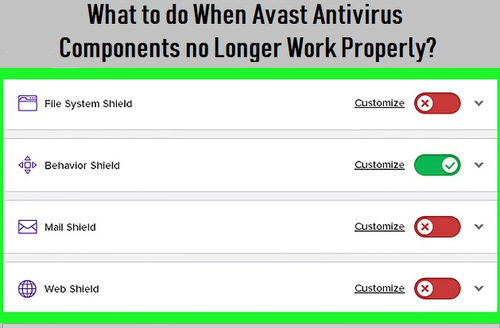 avast antivirus internet not working