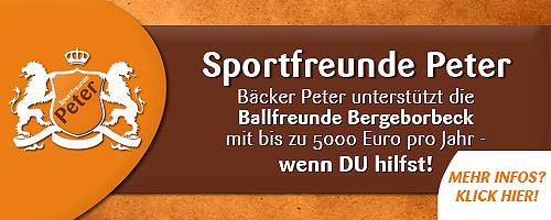 Bäcker Peter unterstützt Ballfreunde Bergeborbeck