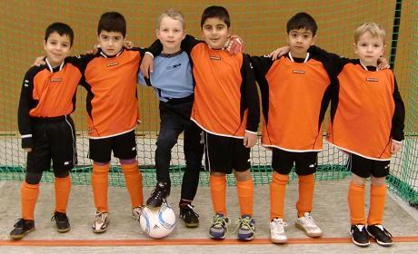 Ballfreunde Bambini am 07.01.2012 beim Hallenturnier des TSV Bruckhausen