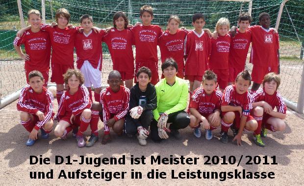D1 von Ballfreunde Bergeborbeck, Meister 2010/2011 und Aufsteiger in die Leistungsklasse