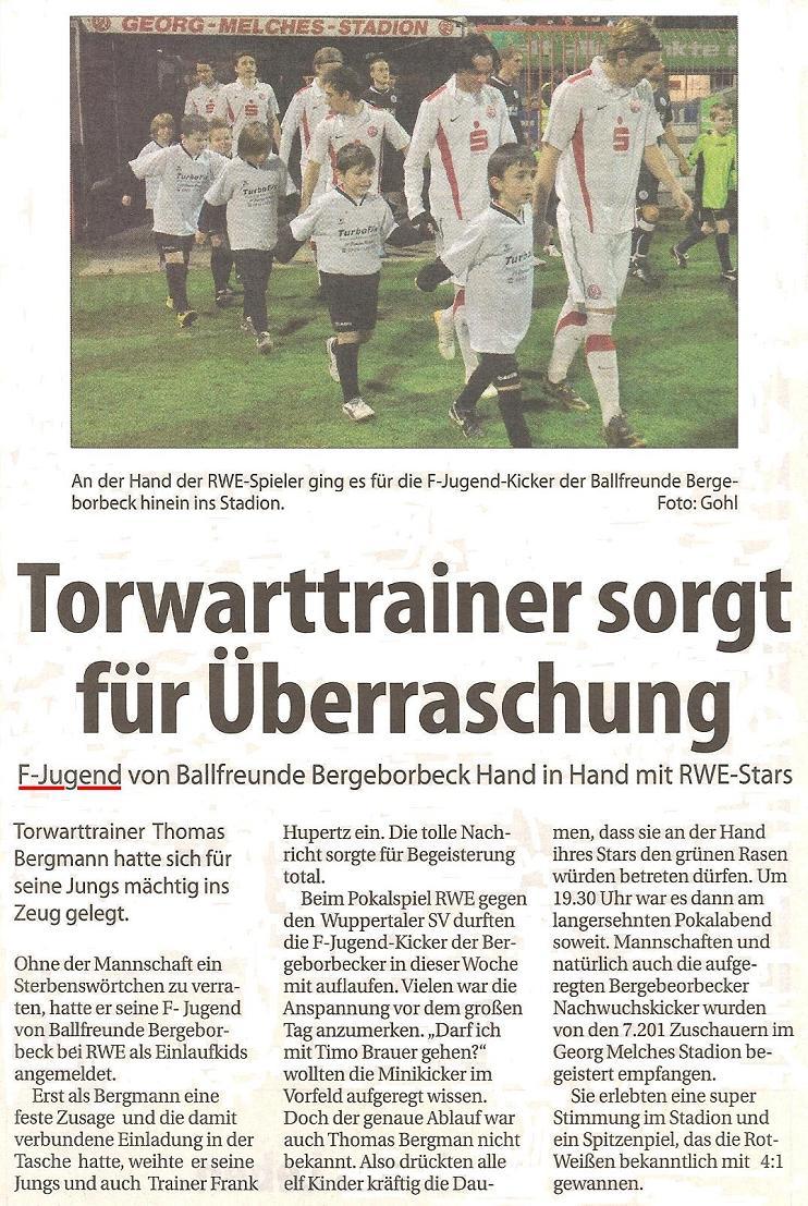Borbeck Kurier vom 12.02.2011 berichtet über die F-Junioren bei RWE