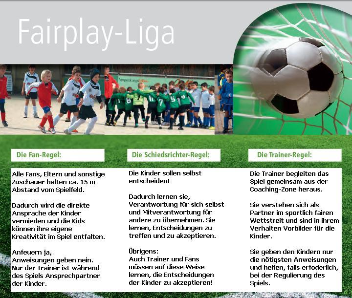 Regeln der Fair Play Liga für Bambini und F-Junioren