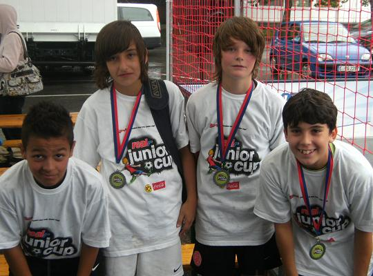 Ballfreunde Bergeborbeck, erster und dritter Platz beim Real Junior Cup Essen