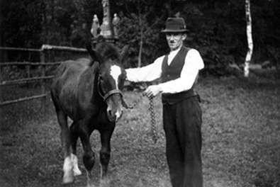 Mit Pferd