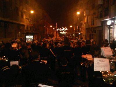 La Banda abriendo la Cabalgata de los Reyes MAgos de Lucena 2011