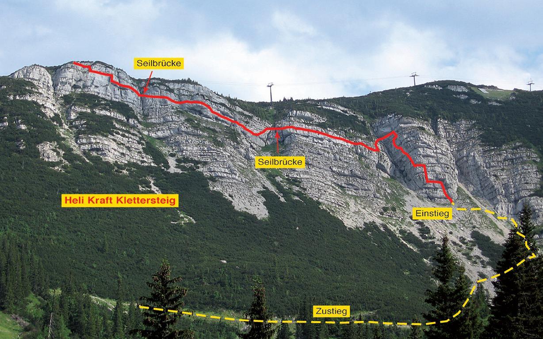 Klettersteig Karte : Bergfex und seine touren heli kraft klettersteig am hochkar