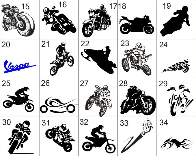 M15 Motorrad Wandtattoo Aufkleber 20 Cm Gross Ebay