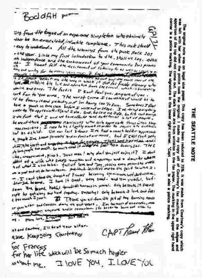 Abschiedsbrief Kurt Cobain