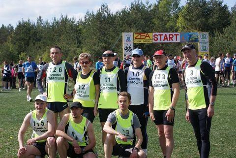 Zespół GTS Czarna Dąbrówka przed startem do 21 Biegu Orłów
