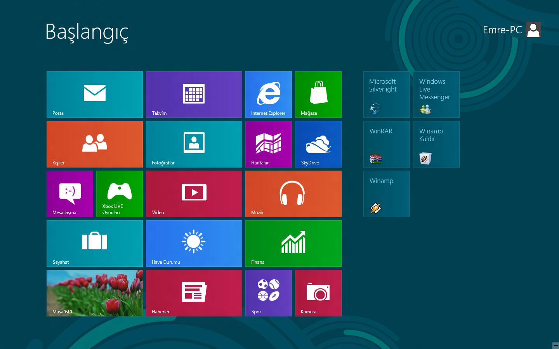windows8 görüntüsü
