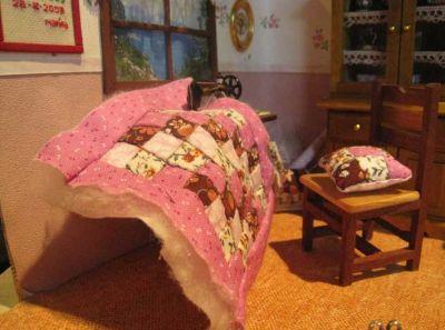 máquina de coser con patchwork